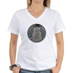 Snowman Women's V-Neck T-Shirt