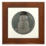 Snowman Framed Tile