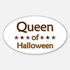 Queen of Halloween Oval Decal