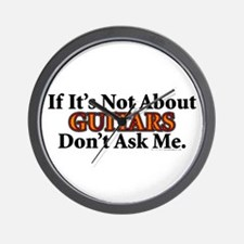 Guitars Wall Clock