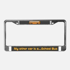 My other car...is a School Bus License Plate Frame