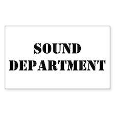 """""""Sound Department"""" Sticker (10 pk)"""