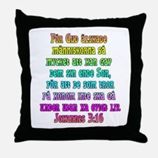 John 3:16 Swedish Throw Pillow