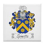 Spinetta Family Crest Tile Coaster