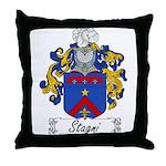 Stagni Family Crest Throw Pillow