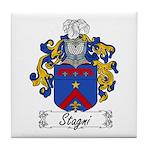 Stagni Family Crest Tile Coaster