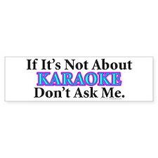 Karaoke Bumper Bumper Sticker