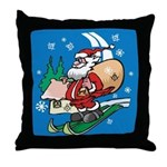 Santa's Masonic Throw Pillow