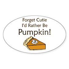 Pumpkin Pie Oval Decal