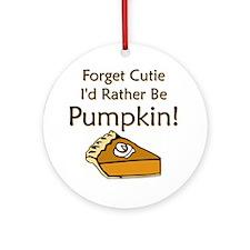 Pumpkin Pie Ornament (Round)