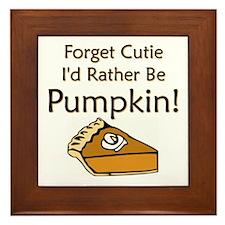 Pumpkin Pie Framed Tile