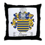 Stagno Family Crest Throw Pillow