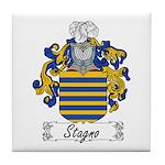 Stagno Family Crest Tile Coaster