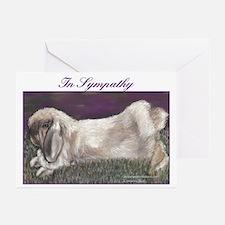 Fuzzy Lop Rabbit Sympathy Cards (Pk of 20)