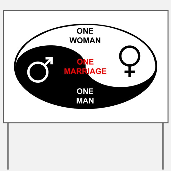 """""""Definition of Marriage"""" Yard Sign"""