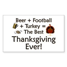 Funny Thanksgiving Rectangle Decal
