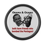 Terrorist Friends Large Wall Clock