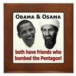 Terrorist Friends Framed Tile