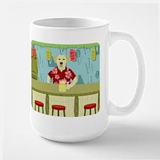 Yellow Lab Tiki Bar Large Coffee Mug