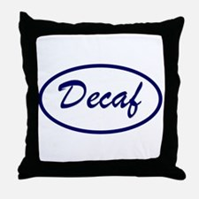 Decaf Name Patch Throw Pillow