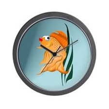 Fancy Gold Fish Wall Clock