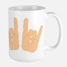Rock & Roll Hands Large Coffee Mug