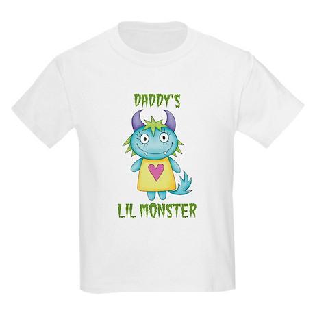 Daddy's Lil Monster Kids Light T-Shirt