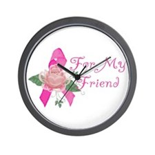 Breast Cancer Support Friend Wall Clock