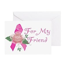 Breast Cancer Support Friend Greeting Card