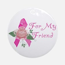Breast Cancer Support Friend Ornament (Round)