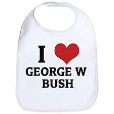 I Love George W. Bush Bib