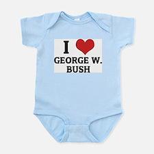 I Love George W. Bush Infant Creeper