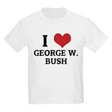 I Love George W. Bush Kids T-Shirt