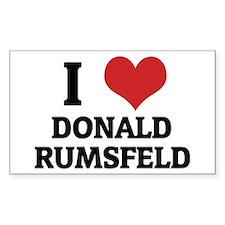 I Love Donald Rumsfeld Rectangle Decal