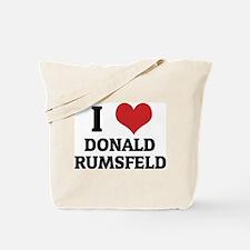 I Love Donald Rumsfeld Tote Bag