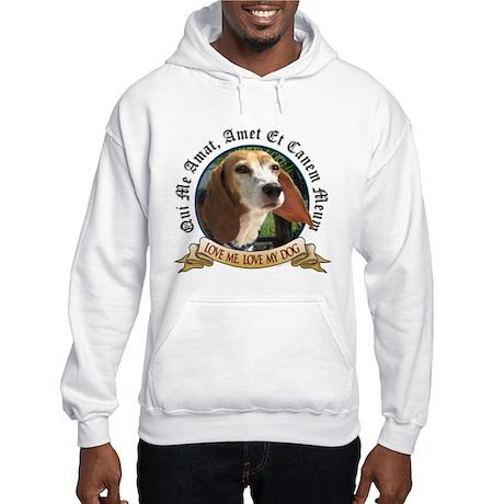 Love Me, Love My Dog - Beagle Hooded Sweatshirt