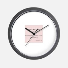 Cool Philosophical Wall Clock