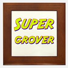 Super grover Framed Tile