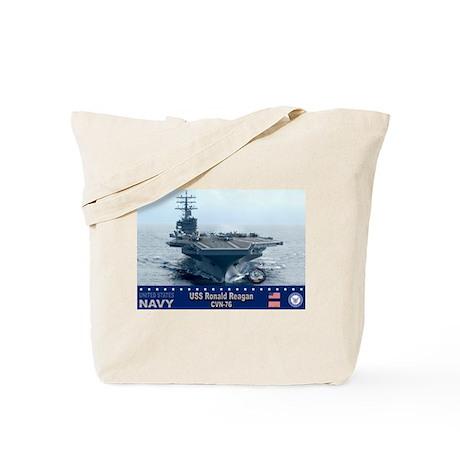 USS Ronald Reagan CVN-76 Tote Bag