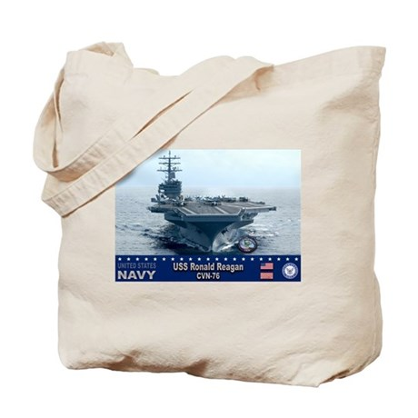 USS Ronald Reagan CVN-76 Tote Bag