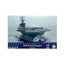 USS Ronald Reagan CVN-76 Rectangle Magnet (10 pack