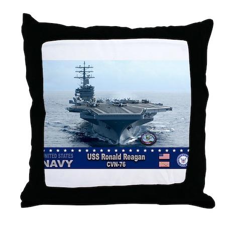 USS Ronald Reagan CVN-76 Throw Pillow