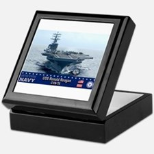 USS Ronald Reagan CVN-76 Keepsake Box