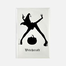Witchcraft Silhouette Rectangle Magnet