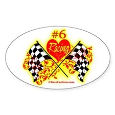 RaceFashion.com Oval Decal