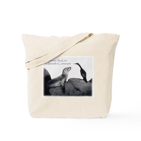 Sea Lion & Cormorant Tote Bag