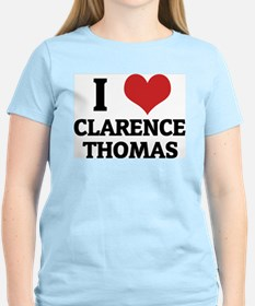 I Love Clarence Thomas Women's Pink T-Shirt