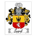 Suardi Family Crest Small Poster