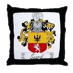 Suardi Family Crest Throw Pillow