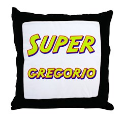 Super gregorio Throw Pillow
